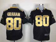 Mens Nfl New Orleans Saints #80 Graham Black Game Jersey