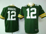 mens nfl Green Bay Packers #12 Aaron Rodgers green game jersey