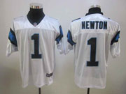 mens nfl Carolina Panthers #1 Cam Newton white elite jersey
