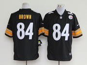 mens nfl Pittsburgh Steelers #84 Antonio Brown black game jersey