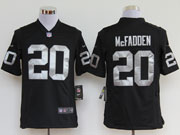mens nfl Las Vegas Raiders #20 mcfadden black game jersey