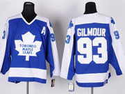 Mens nhl toronto maple leafs #93 gilmour blue throwbacks Jersey