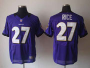 Mens Nfl Baltimore Ravens #27 Sheldon Price Purple Elite Jersey