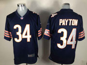 mens nfl Chicago Bears #34 Walter Payton blue game jersey
