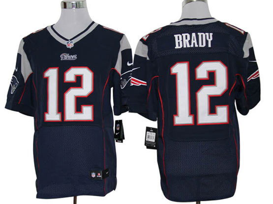 mens nfl New England Patriots #12 Tom Brady blue elite jersey