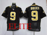 mens nfl New Orleans Saints #9 Drew Brees black elite jersey