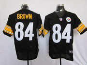mens nfl Pittsburgh Steelers #84 Antonio Brown black elite jersey
