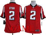 Mens Nfl Atlanta Falcons #2 Ryan Red Game Jersey