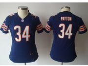 women  nfl Chicago Bears #34 Walter Payton blue game jersey