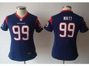 women  nfl Houston Texans #99 JJ Watt dark blue game jersey