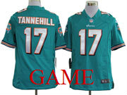 Mens Nfl Miami Dolphins #17 Tannehill Green Game Jersey