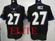 Mens Nfl Baltimore Ravens #27 Sheldon Price Black Elite Jersey