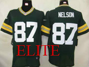 Mens Nfl Green Bay Packers #87 Nelson Green Elite Jersey