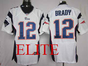 mens nfl New England Patriots #12 Tom Brady white elite jersey