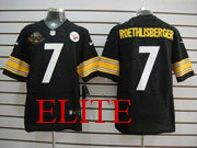 Mens Nfl Pittsburgh Steelers #7 Roethlisberger Black 80th Elite Jersey