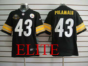 Mens Nfl Pittsburgh Steelers #43 Troy Polamalu Black 80th Elite Jersey