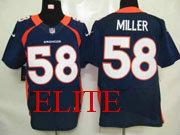 mens nfl Denver Broncos #58 Von Miller blue elite jersey