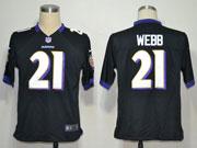 Mens Nfl Baltimore Ravens #21 Lardarius Webb Black Game Jersey