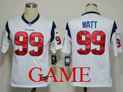 mens nfl Houston Texans #99 JJ Watt white game jersey