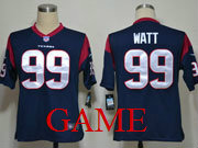 mens nfl Houston Texans #99 JJ Watt blue game jersey