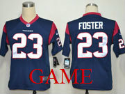 Mens Nfl Houston Texans #23 Foster Blue Game Jersey