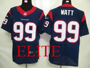 mens nfl Houston Texans #99 JJ Watt blue elite jersey