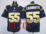 Mens Nfl St. Louis Rams #55 Laurinaitis Blue Elite Jersey