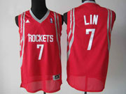 Mens Nba Houston Rockets #7 Lin Red Jersey(m)