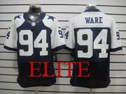Mens Nfl Dallas Cowboys #94 Ware Blue Thanksgiving Elite Jersey