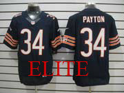 mens nfl Chicago Bears #34 Walter Payton blue elite jersey