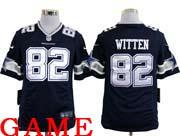 mens nfl Dallas Cowboys #82 Jason Witten blue game jersey