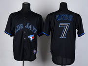 Mens mlb toronto blue jays #7 reyes black 2012 new style Jersey