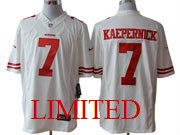 mens nfl San Francisco 49ers #7 Colin Kaepernick white limited jersey