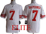 mens nfl San Francisco 49ers #7 Colin Kaepernick white elite jersey