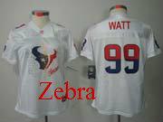 women  nfl Houston Texans #99 JJ Watt white fem fan jersey
