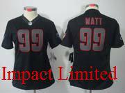 women  nfl Houston Texans #99 JJ Watt black impact limited jersey