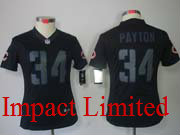 women  nfl Chicago Bears #34 Walter Payton black impact limited jersey