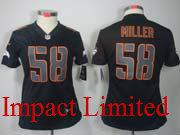 women  nfl Denver Broncos #58 Von Miller black impact limited jersey