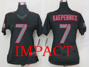 women  nfl San Francisco 49ers #7 Colin Kaepernick black impact jersey