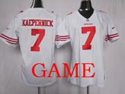 women  nfl San Francisco 49ers #7 Colin Kaepernick white game jersey(sn)
