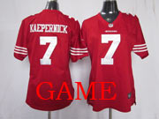 women  nfl San Francisco 49ers #7 Colin Kaepernick red game jersey
