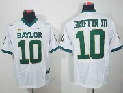 Mens Ncaa Nfl Baylor Bears #10 Griffin Iii White Elite Jersey