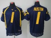 Mens Ncaa Virginia Mountaineers #1 Austin Blue Jersey