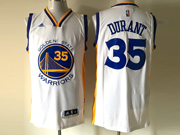 Mens Adidas Golden State Warriors #35 Kevin Durant White Player Swingman Home Jersey