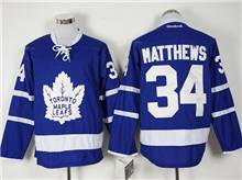 Mens Nhl Toronto Maple Leafs #34 Auston Matthews Blue 2016 Jersey