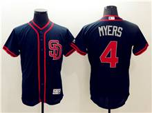 mens majestic san diego padres #4 wil myers dark blue fashion stars stripes Flex Base jersey