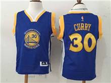 Youth Nba Golden State Warriors #30 Stephen Curry Blue Jersey