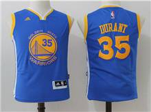 Youth Nba Golden State Warriors #35 Kevin Durant Blue Jersey