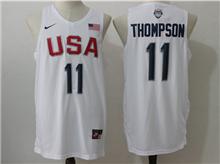 Mens Nba 12 Dream Teams #11 Klay Thompson White Jersey