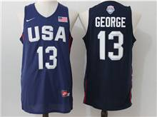 Mens Nba 12 Dream Teams #13 Paul George Blue Jersey